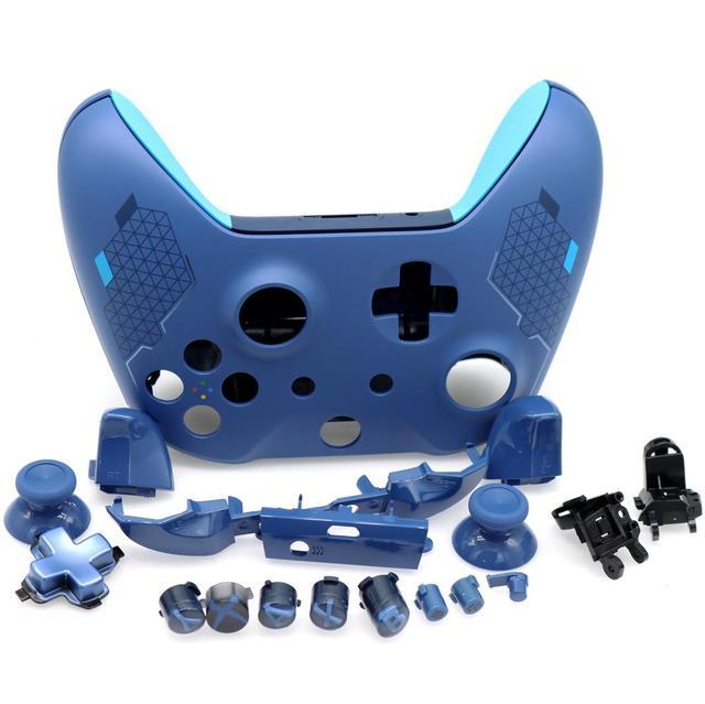 Tam konut Shell kiti yedek Thumbsticks ile düğmeler tampon Xbox One Slim denetleyici için 1708 spor mavi özel baskı
