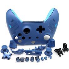 طقم هيكل كامل بديل مع أزرار Thumbsticks ممتص للصدمات لجهاز Xbox One سليم متحكم 1708 رياضي أزرق إصدار خاص