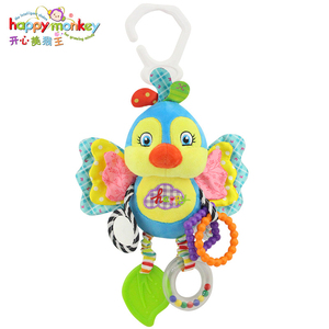 Image 3 - Happy Monkey baby bed bell neonatal  toys with BB  plush toy for   hanging  cartoon animal WJ459