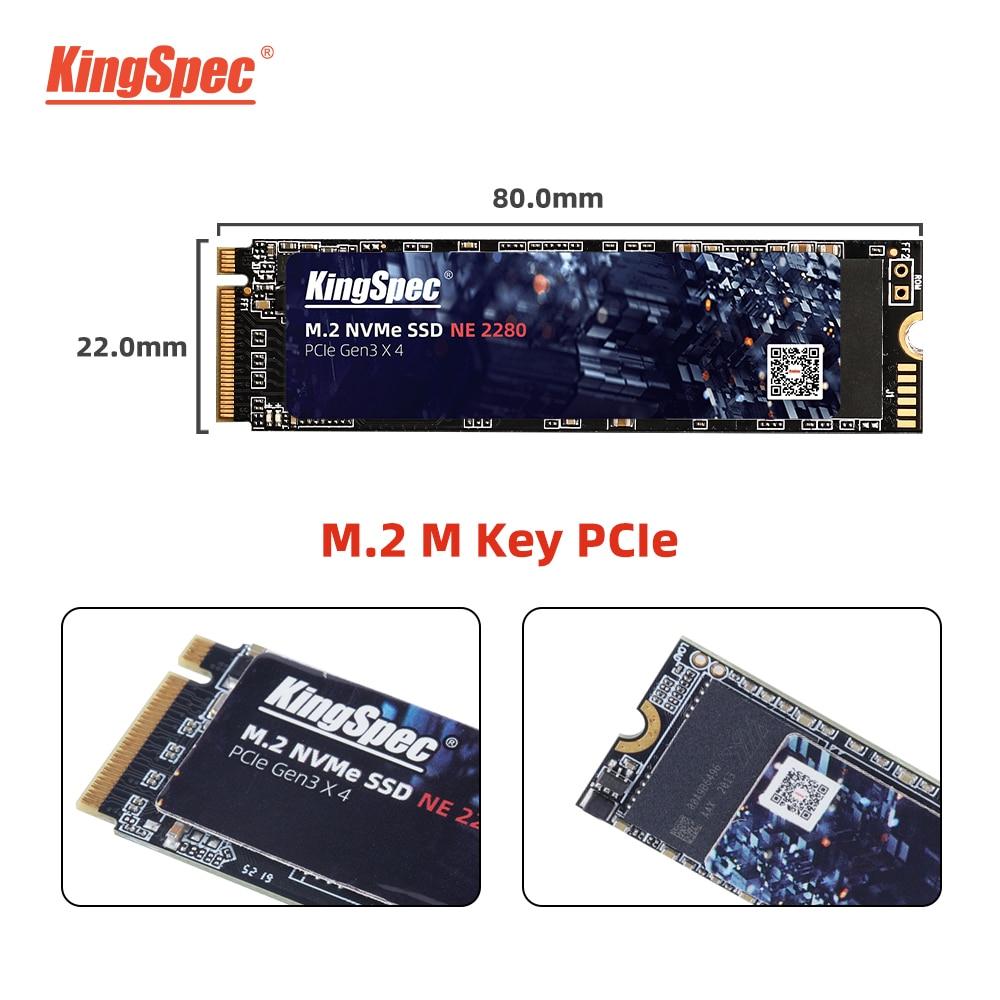 KingSpec M2 SSD NVMe 256GB 512GB 1TB 128GB M.2 2280 PCIe SSD Internal Solid State Drive for Laptop Desktop SSD Drive 3