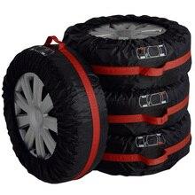 Nuovo 4 pezzi durevole custodia in poliestere per pneumatici copertura per pneumatici di scorta non tossico protezione per ruote per veicoli portatili per lestate di stoccaggio