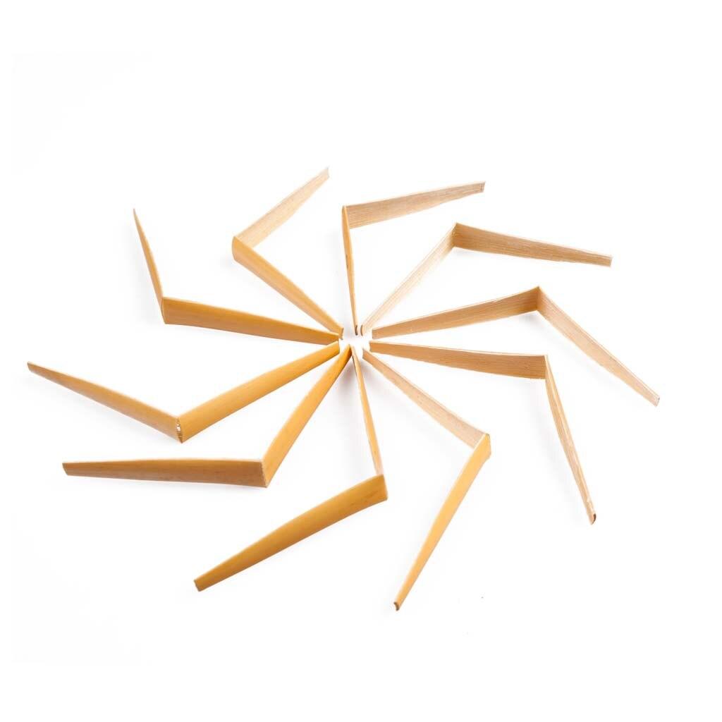Durable 20pcs/Pack Handmade Oboe Reeds Cane Gouged Folded 9 X 3cm