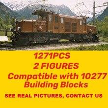 1271 шт. Crocodiled Locomotived модель поезда конструкторных блоков, Детские кубики, игрушки подходят Technic 21005 21006 16055 10277 игрушки для детей, подарок