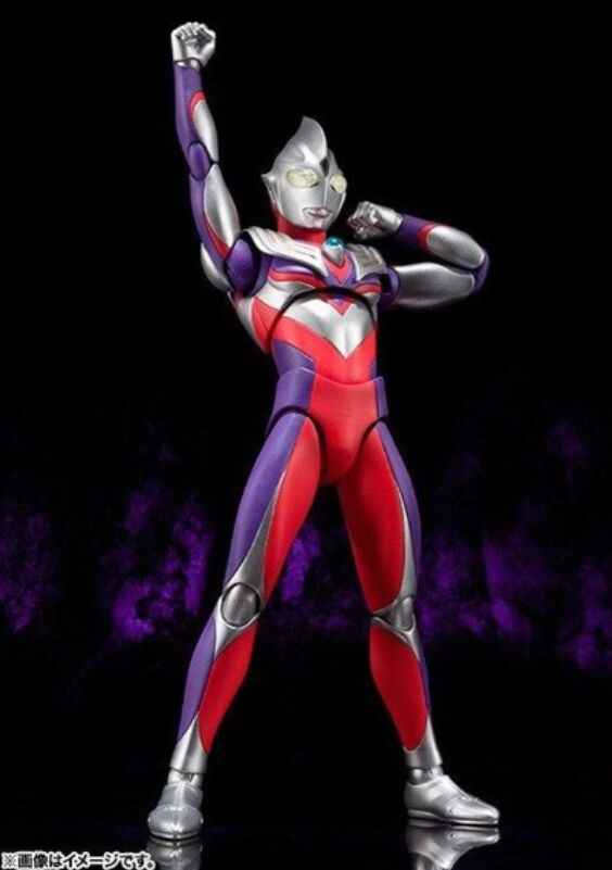 Originele Ultra-Act Multi Type Ultraman Tiga Action Figure Toy Collection