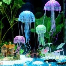 Ornament Decor Jellyfish Pet-Supplies Fish-Tank Aquatic Home-Accessories Glowing-Effect