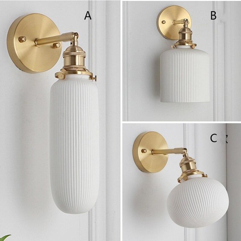 Настенный светильник, светодиодный, из белого фарфора