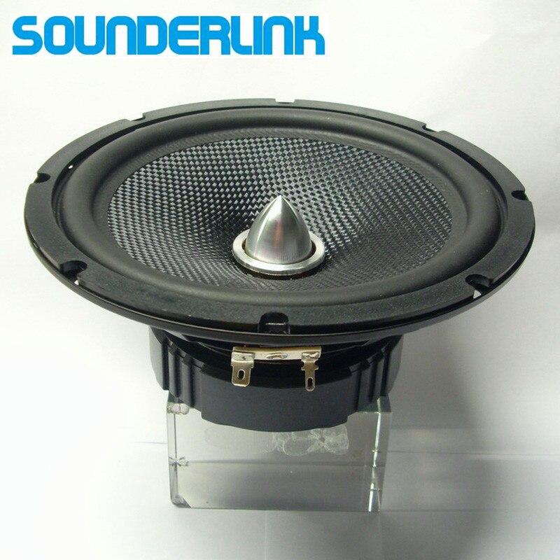 1 pcs/lot Sounderlink 6.5 inch HiFi Full Range Speaker aluminum bullet arrow tweeter unit sets kapton Cone|range speaker|full range speaker|full range speaker unit - title=
