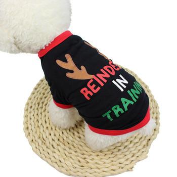 Przeniesienie gorąco! Ubrania dla psów świąteczne ubrania dla psów poliester T shirt przebranie szczeniaka ubrania dla psów t x2dshirt dla psów tanie i dobre opinie Transer Mały pies polyester Black Dog Cat Fashion shirt for dogs pomeranian dog clothes