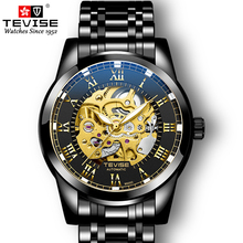 TEVISE Watches Stainless Steel Waterproof Mens Skeleton Watches Top Brand Luxury Transparent Mechanical Sport Male Wrist Watches cheap 3Bar Bracelet Clasp Fashion Casual Automatic Self-Wind Water Resistant Luminous Hands T9005D ROUND Hardlex Paper Mechanical Wristwatches