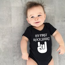 Baby Bodysuit Body-Rock Outfit Short-Sleeve Infant Cotton Cute 0-24mt Culbutomind Boy