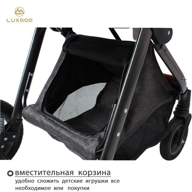 Luxmom carrinho de bebê 2 em 1 alta paisagem carrinho eva grandes rodas amortecedor luxmom v9 4