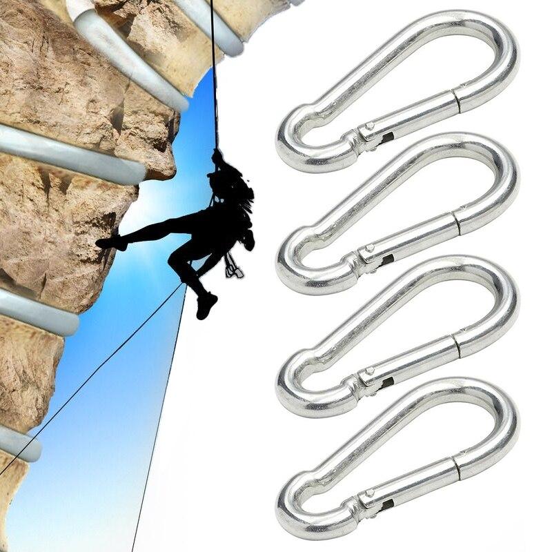 4PCS Aluminum Alloy Carabiner Hooks D-Ring Key Chain Clip Hiking Camping Climbing Carabiner Tools