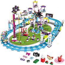 Bricks for Lepining Friends Amusement Park Blocks Roller Coaster Figure Model Toys