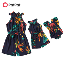 PatPat New Arrival 2021 Spring and Autumn Floral Print Sleeveless Rompers for Mommy-girl-baby Family Matching Clothing