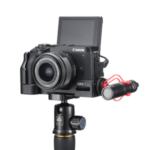 Image 2 - UURig Arca שחרור מהיר L צלחת עבור Canon M6 Mark II עם קר נעל 1/4 בורג כדי מיקרופון
