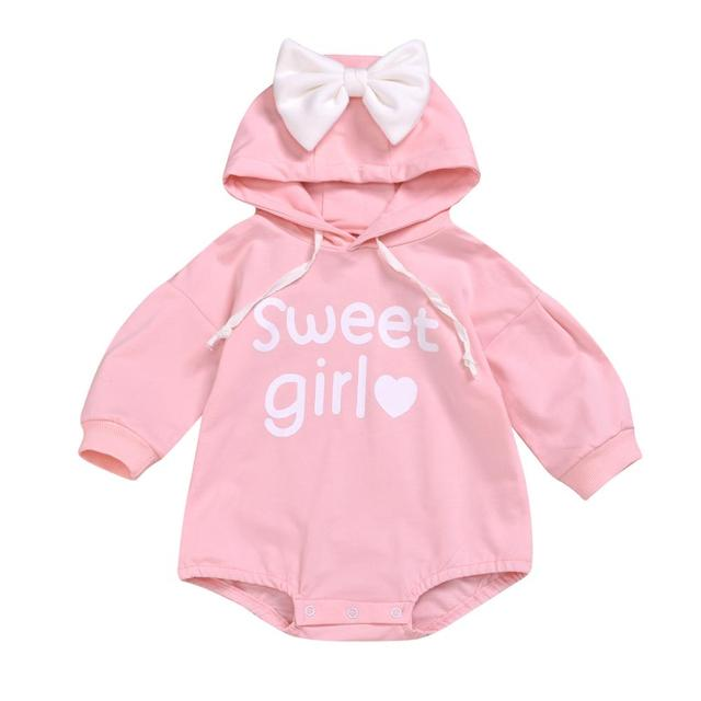 Todder Kid Baby Girl Boy Rabbit Letter Sweatshirt Tops Romper Pullover organic baby clothes Long sleeve Rompers Cotton Newborn Baby Clothes Bodysuits & Onesies For All (0-3 years) Shop by Age