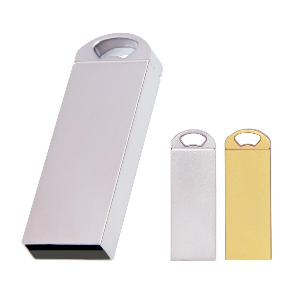 Memory Stick Usb 2.0 Metal Usb Flash Drive Usb Disk Key Pendrive Real Capacity 64GB 32GB 16GB 8GB 4GB Pen Drive Free Custom Logo