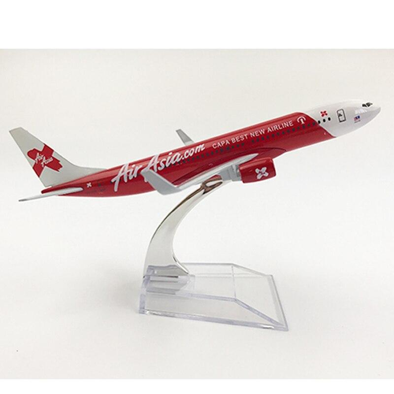 JASON TUTU 16cm AirAsia Airbus A320 Plane Model Airplane Model Boeing 737 Aircraft Model 1:400 Diecast Metal Airplanes Plane Toy