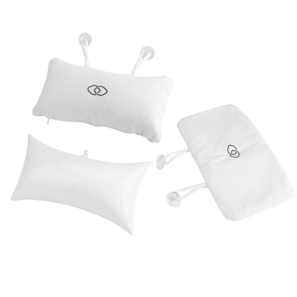 350X200mm Bathtub Spa Pillow Bath Cushion With Suction Cups Head Support Neck Massage Pillow Cushion Bathroom Product