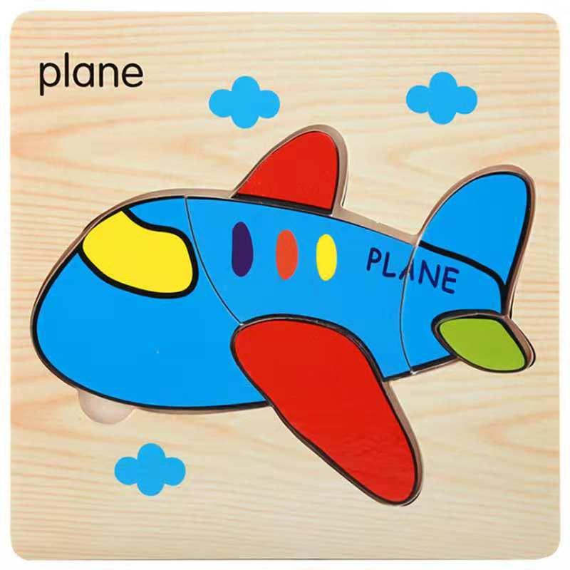 3D деревянные головоломки, игрушки для детей, Деревянные 3d Мультяшные головоломки с животными, интеллектуальные детские развивающие игрушки для детей - Цвет: CAMEL