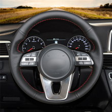 Braid on the Steering Wheel Cover for Kia cerato 2018 Kia K5 Optima 2019 Cee'd Ceed 2019 Forte steering wheel case funda volante