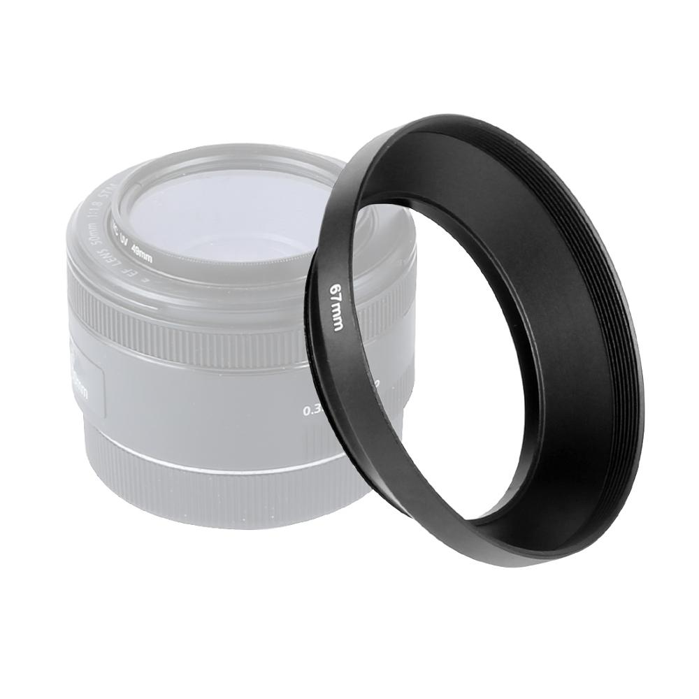 BGNing 49/52/55/<font><b>58</b></font>/62/67/72/77mm Wide-Angle Metal <font><b>Lens</b></font> <font><b>Hood</b></font> Black Screw Mount For Canon Nikon Pentax Sony DSLR Camera image