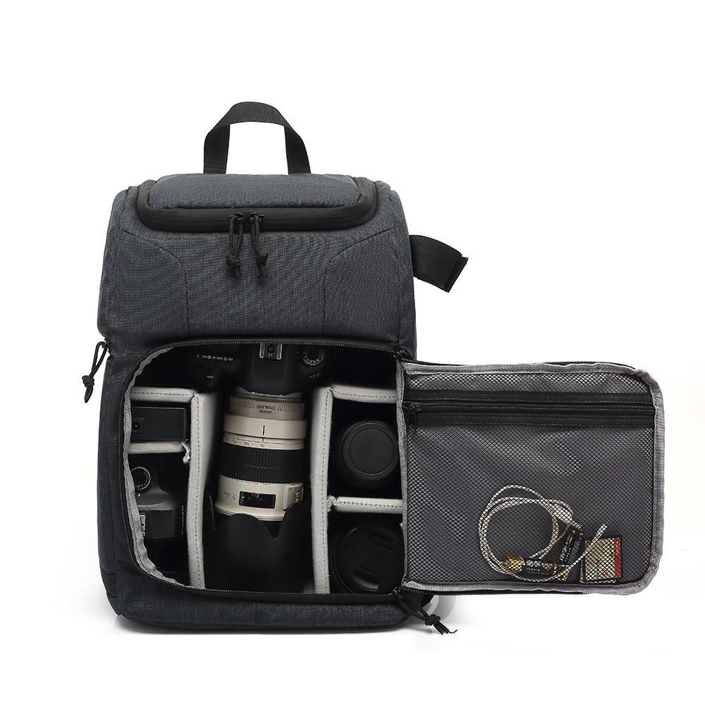 Multi-functional Waterproof dslr Camera photo lens Bag Backpack Knapsack Large Capacity Portable Travel for Outside Photography 4