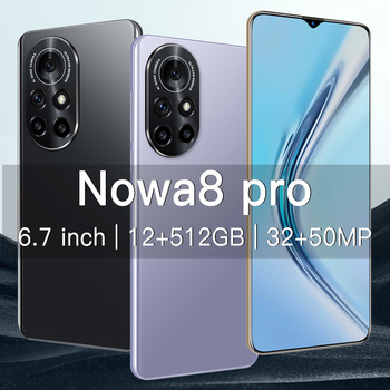 New Arrival Nowa8 Pro Smartphone 64/256/512GB Andriod Phones 6.7Inch Full HD Cellphone 6800mAh 5G Smart Phone SUpport TF Card 3