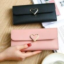 Women Long Wallets Purses Luxury Love Heart Wallets