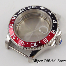 цена на 41mm Watch Case Sapphire Glass Bidirectional Rotating Bezel Alloy Bezel Insert Fit ETA 2836 MIYOTA Movement