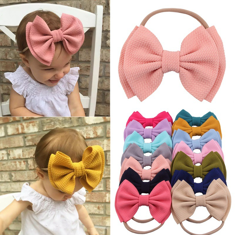 Flower Elastic Kids Newborn Baby Headband Hair Band Bow Headwear Head Wraps