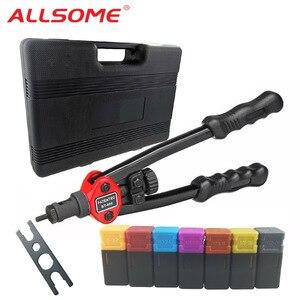 Image 1 - ALLSOME Rivet Nut Guns Auto Riveter Tool BT 606 Riveter Nut tool Hand Insert Rivet Nut Tool Manual Mandrels 6 32 8 32 BT 605