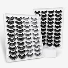 SEXYSHEEP – faux-cils naturels en vison 6D, 12 paires, Volume spectaculaire, Extension de maquillage, cils en soie