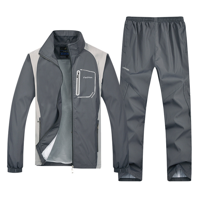 Men's 2020 Spring Thin Running Windbreak Fitness Jogging Training Suit Compression Sport Clothing
