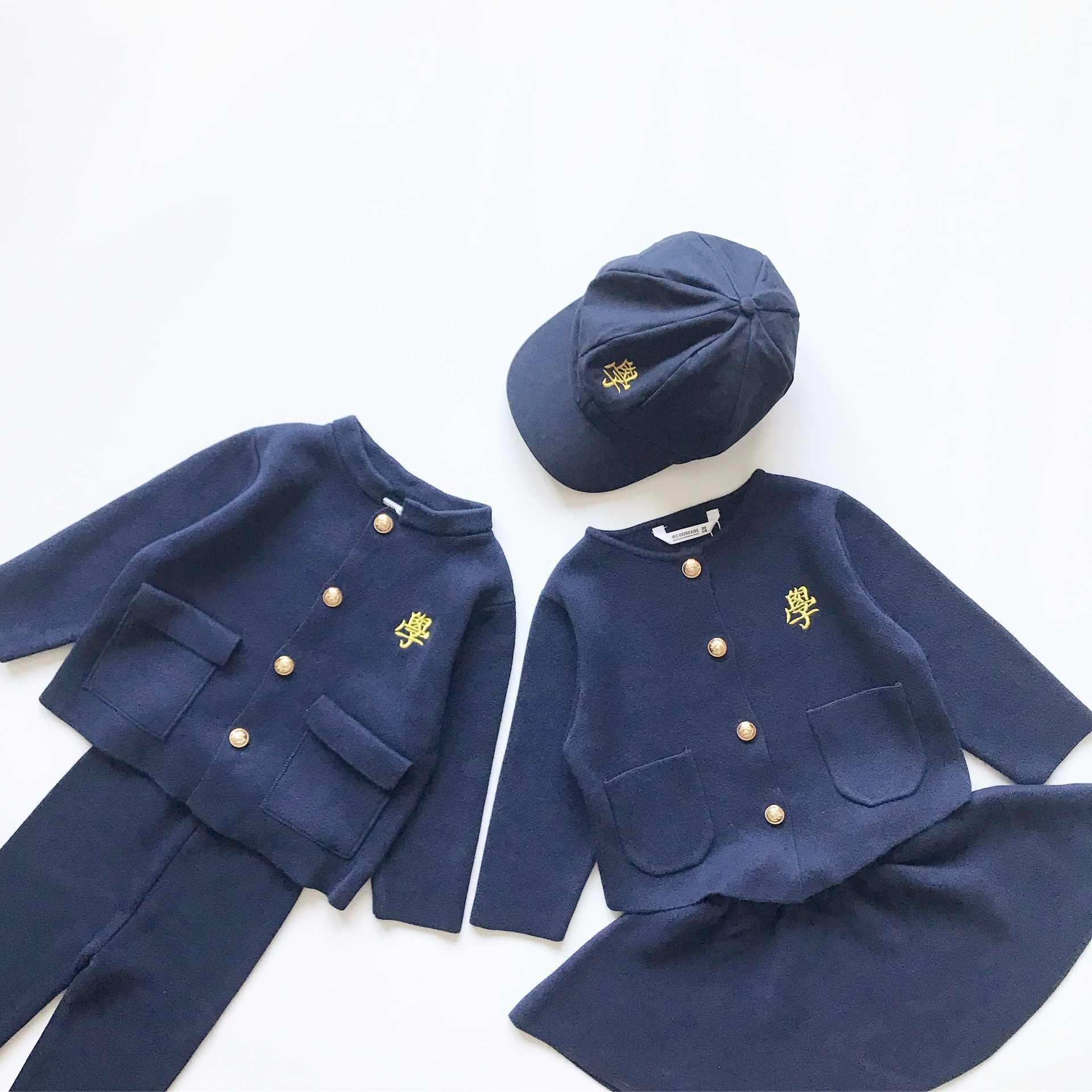 Tonytaobaby automne hiver vêtements nouveaux vêtements pour enfants tricoté pull chemise enfants vêtements costume filles automne tenues