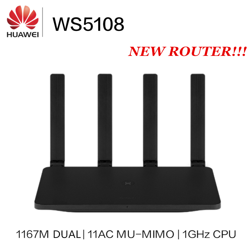 Presale Huawei Router WS5108 11AC MU-MIMO Wifi Repeater 100 Megabit 2.4G / 5G Dual Band 5dBi High Gain Antennas 1167Mbps 1GHz