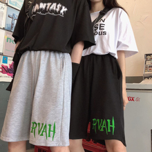 2020 New Korean Style Of Casual Pants Male Summer Ins Retro Trend Sports Five-po