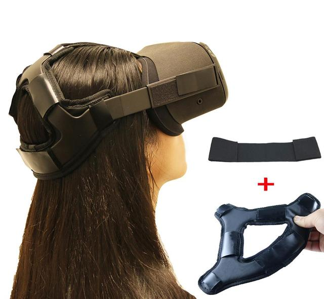 Newest Non-slip VR Helmet Head Pressure-relieving Strap Foam Pad for Oculus Quest VR Headset Cushion Headband Fixing Accessories