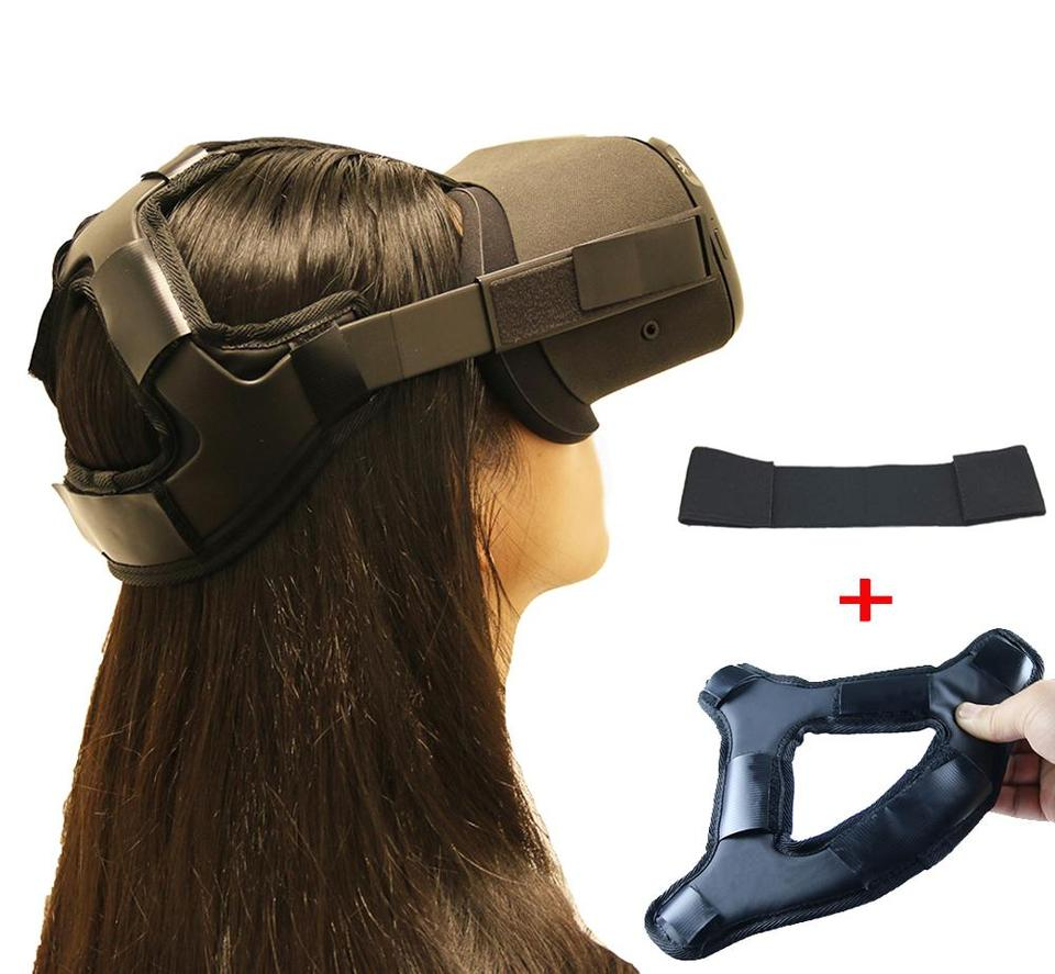US $11.78 40% OFF|Newest Non slip VR Helmet Head Pressure relieving Strap Foam Pad for Oculus Quest VR Headset Cushion Headband Fixing