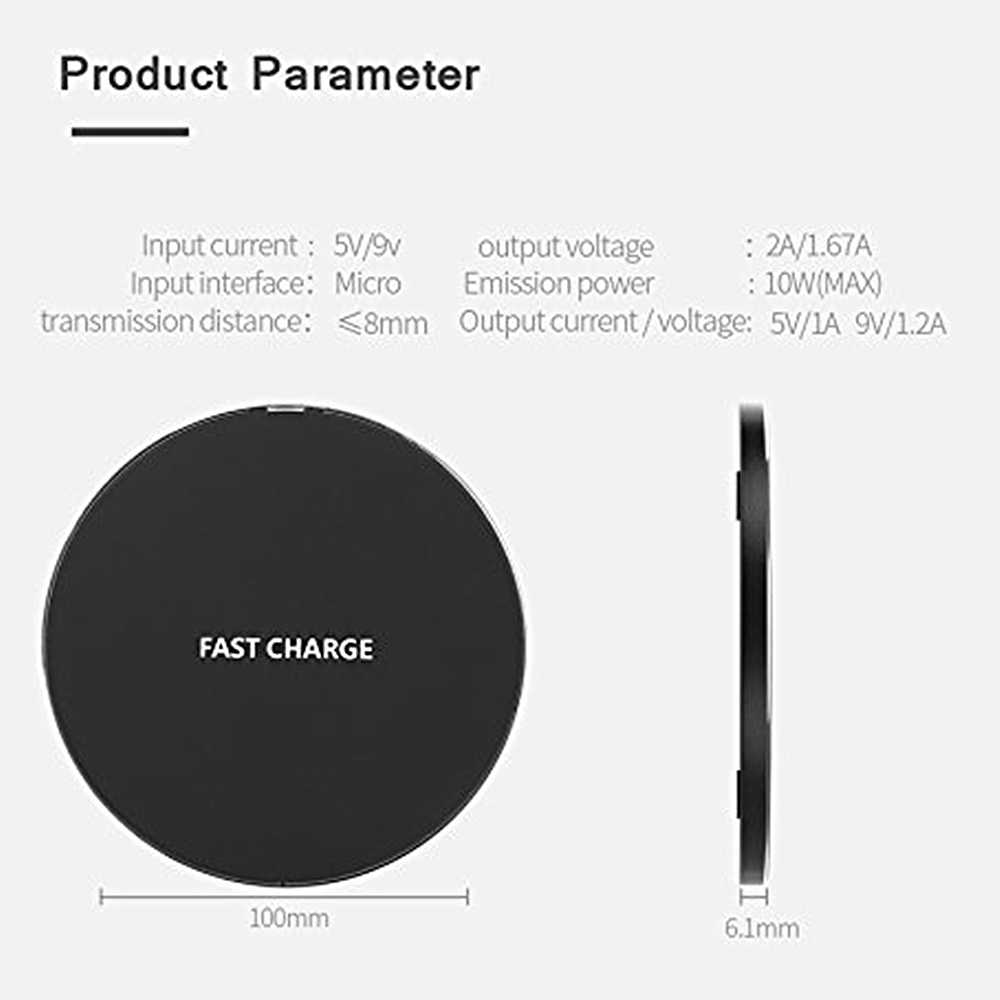 Qi wireless-ladegerät Für Ulefone power 5 5s Rüstung X 6 Qi Drahtlose Ladegerät für Leagoo Power 5 S10 charging Pad Power 10w