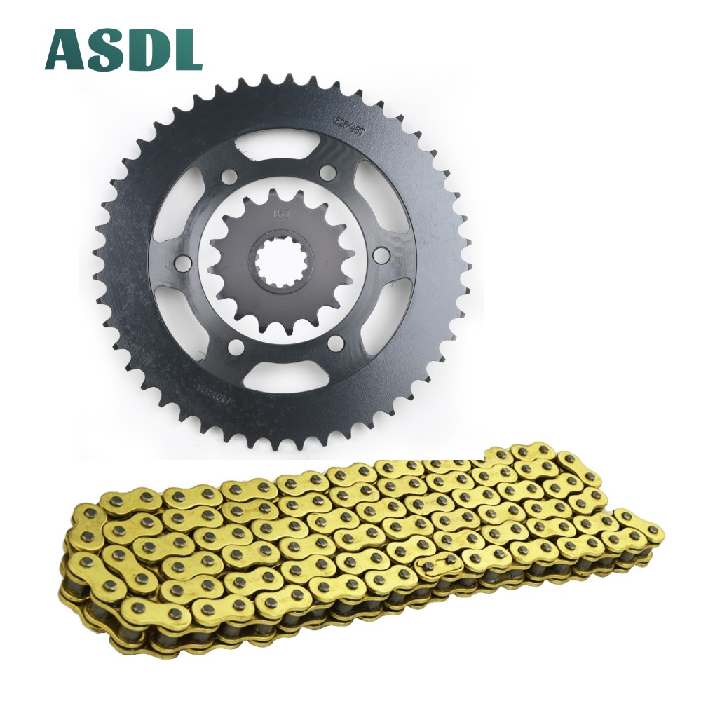 525 16T <font><b>48T</b></font> Motorcycle Motor Best Transmission Drive Chain and Front Rear <font><b>Sprocket</b></font> Set for YAMAHA FJ-09 2016 2017 16 48 Teeth#c image