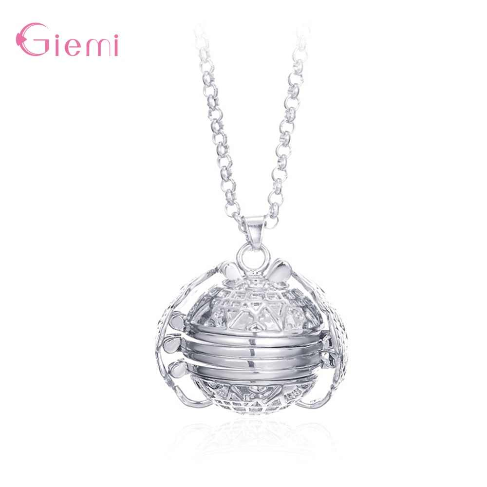 Hot Sale 925 Sterling Silver Retro Multi-layer Angel Wings Photo Locket Charm Pendant Necklace For Women Men Family Jewelry Gift