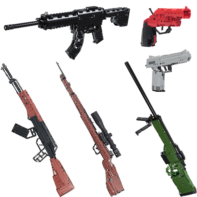 Dragunov Call of Duty// PUBG LEGO Compatible AK47 Set of 6 Guns