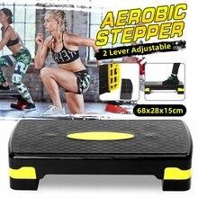 100KG Fitness aerobik krok regulowany antypoślizgowy Cardio joga pedał Stepper siłownia do treningów i ćwiczeń Fitness aerobik krok sprzęt