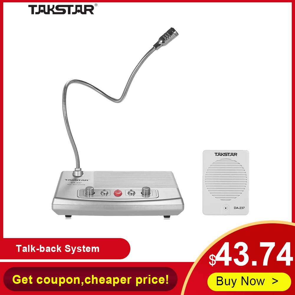 TAKSTAR DA-237 Talk-back System Hot Full-duplex Interphone Bank & Ticket & Cash Window Non-visual Intercom System Free Shipping