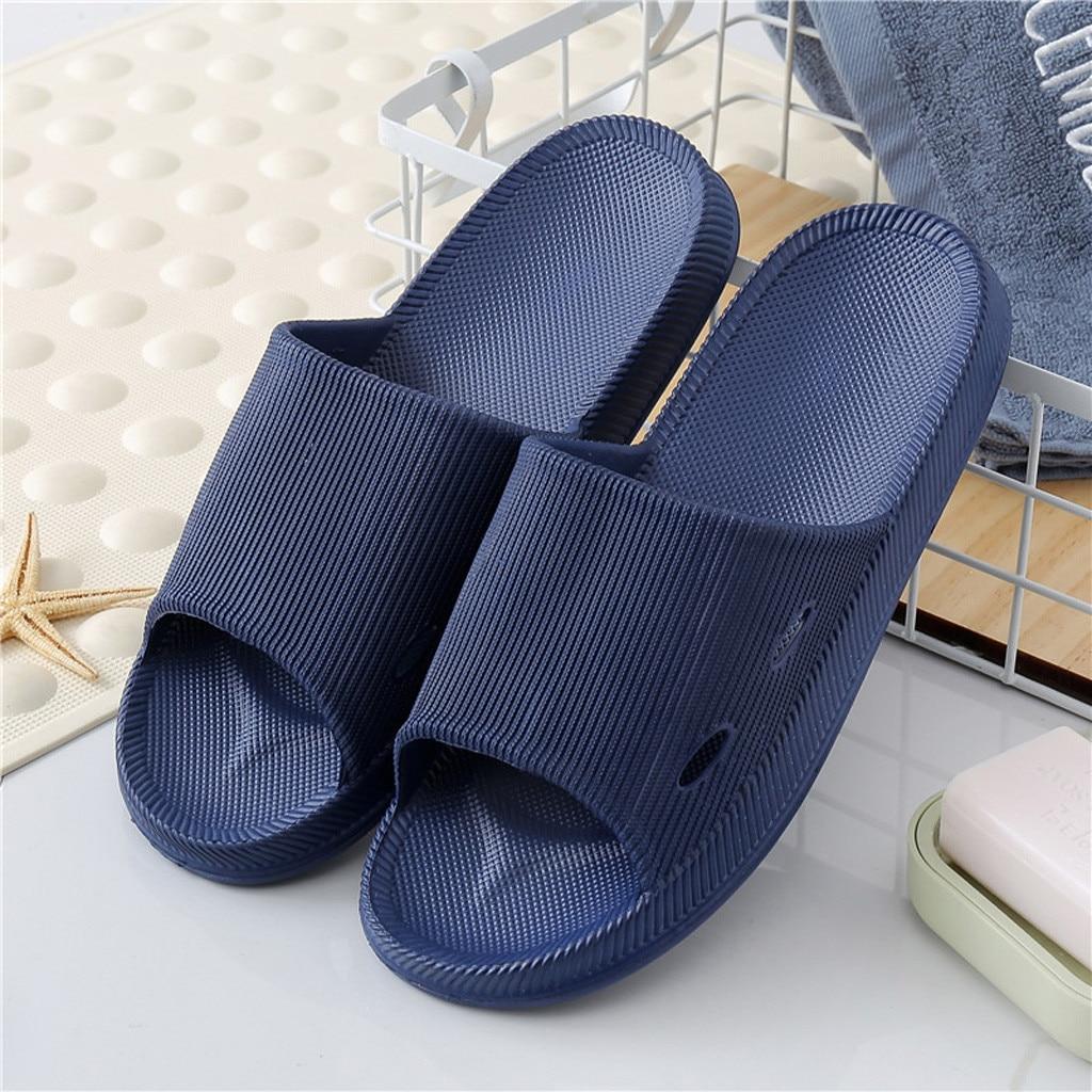 Bathroom Slippers Sandals Mens Solid Anti slip Indoor Home Pool slide Swimming