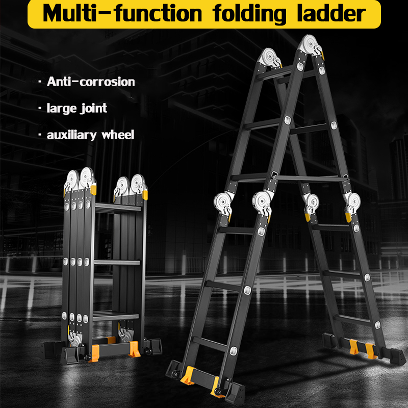 People Ladder 1.2 M Multi-function Folding Ladder Herringbone Ladder Household Ladder Telescopic Ladder Lift Engineering Ladder