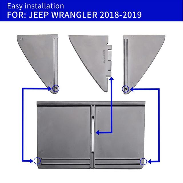 2018 2019 2020 for Jeep Wrangler JL Car Glove Organizers Partition Center Console Storage Box Modified Compartment Accessories