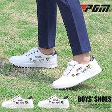Pgm Chidlren легкая обувь для гольфа для мальчиков и девочек; Повседневная водонепроницаемая обувь для гольфа на мягкой нескользящей подошве; спортивные кроссовки для гольфа; D0757