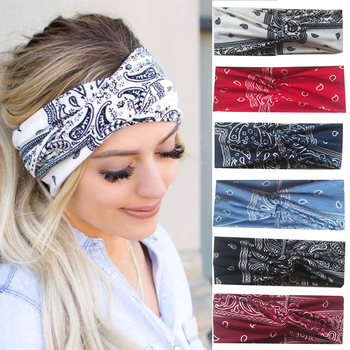 Fashion Girls Summer Bohemian Hair Bands Women Winner Headbands Vintage Cross Turban Bandage Bandanas HairBands Hair Accessories new girls vintage cross knot elastic hairbands soft solid print headbands bandanas girls hair bands hair accessories for women